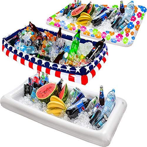 Inflatable Serving Bar, Buffet Salad Food & Drink Tray, Party Food Cooler with Drain Plug for Picnic & Camping, By Chuzy Chef by Chuzy Chef