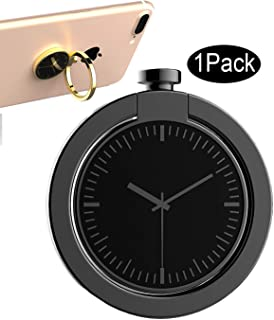 CaseHQ Blackgray Phone Ring Holder,Universal 360 Rotation Cellphone Metal Stand Finger Grip Kickstand, Anti-Drop Finger Holder Car Mount for iPhone, iPad, Samsung HTC Nokia Smartphones, Tablet