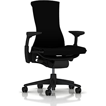 Herman Miller Embody Ergonomic Office Chair | Fully Adjustable Arms and Carpet Casters | Black Rhythm