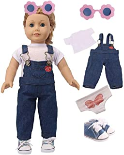 18 Inch Doll Clothes for American Girl Doll Clothes with Shoes and Accessories for Birthday Party Christmas
