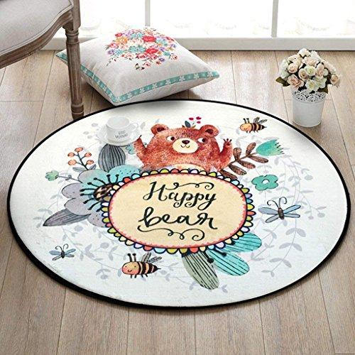 XIN tapijt ronde matrassen cartoon kindermatrassen slaapkamer kamer bed tapijt woonkamer dikker tapijt huis computer kussens