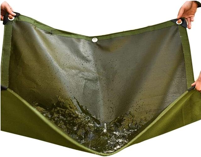 ZAQI Grande Toile épaisse imperméable de bache résistante pour Le Camion extérieur de Camping de Tente, Vert, 600g, 0.8mm (Taille   3M×3M)