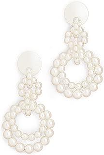 Women's Imitation Pearl Loop De Loop Earrings