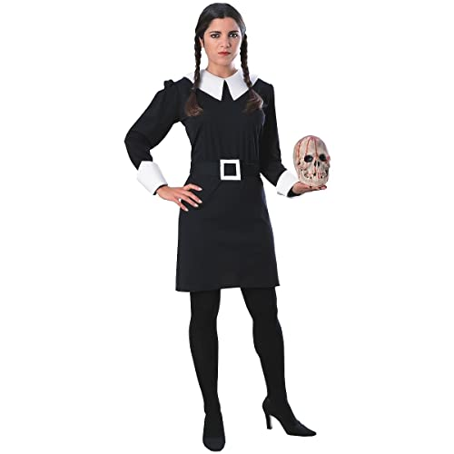 33a31be29b Amazon.com  Wednesday Addams Adult Costume - Large  Clothing