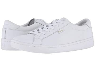 Keds Ace Leather (White/White) Women