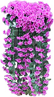 Dolloress Artificial Violet Flower Hanging Wall Wisteria Slik Flower for Home Wall Balcony Decoration