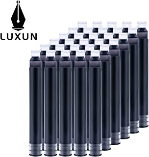 Luxun International Size Pen Ink Cartridge to Fit Fountain Pens,Black [30 PACK]