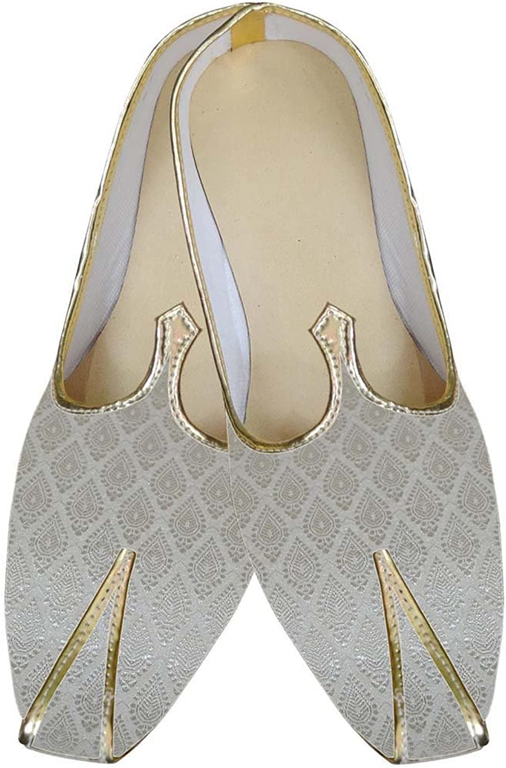 INMONARCH Mens Ivory Indian Wedding shoes MJ0106