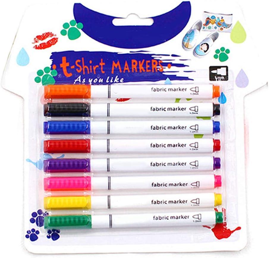 KAIDU 8Pcs Clothes Textile lowest price Markers Crafts DIY Pens Fabric Ranking TOP1 Paint