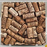 AshasdS Shower Curtain,Natural Wine Corks Wood Design Polyester Waterproof Fabric with 12 Rust Proof Hooks,72 X 72 Inches