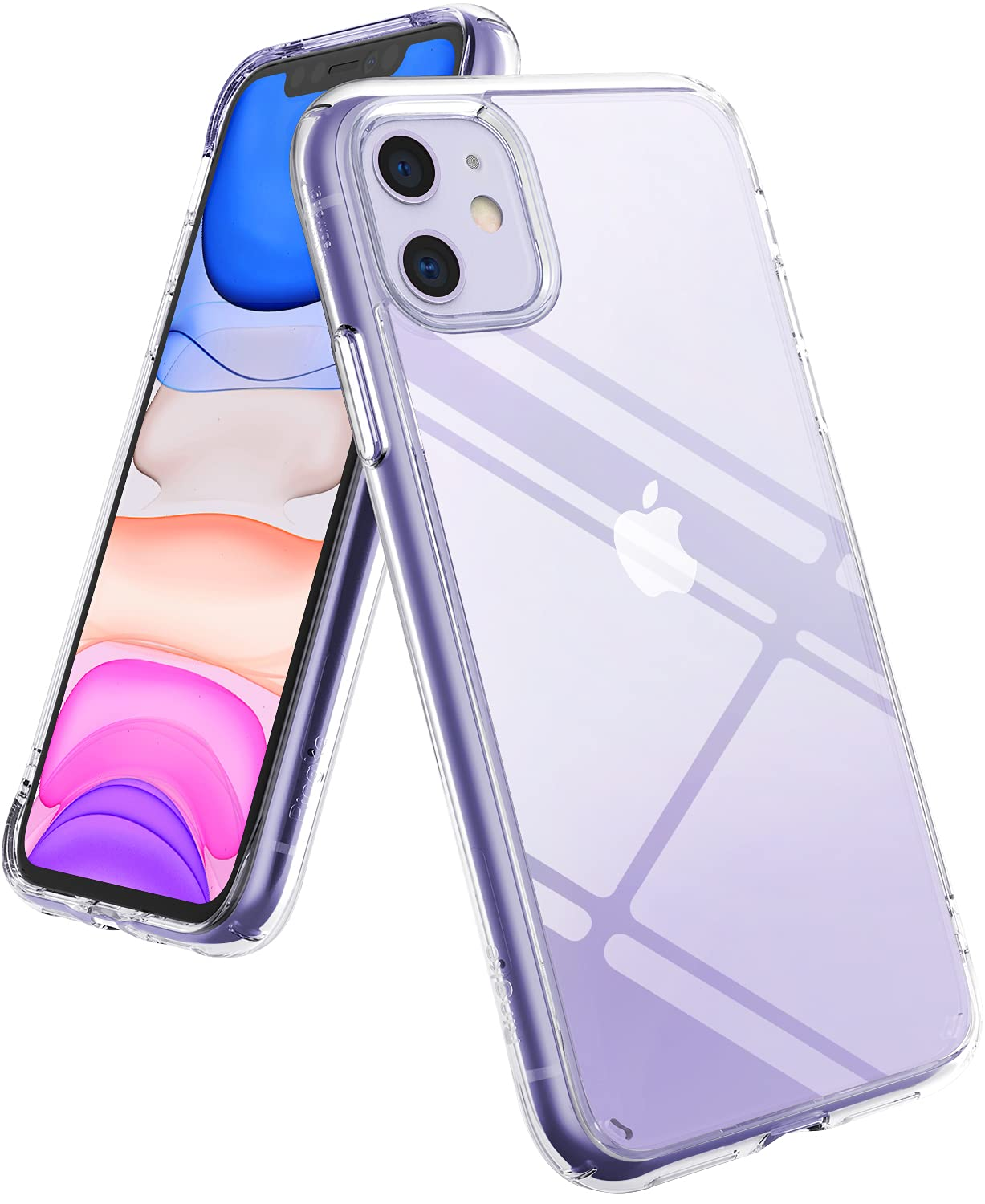 Ringke Fusion Designed for iPhone 11 Case, Clear Hard Back PC Shockproof TPU Bumper Phone Cover Case for iPhone 11 6.1-Inch (2019) - Transparent
