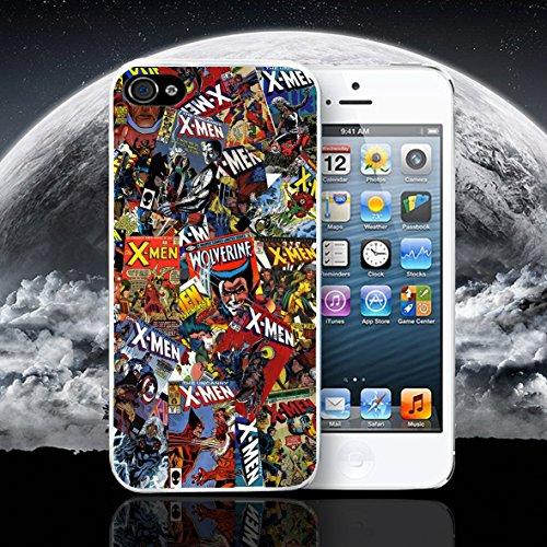 PHONE BOX GLOBAL DC de cómics de X-Men Marvel teléfono móvil Funda Protectora para Apple iPhone 5–5S Blanco Caso