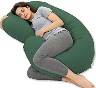 Marine Moon Pregnancy Pillow, Maternity Body Pillow with 100% Cotton Cover (Aubergine, 59