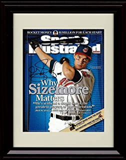 Framed Grady Sizemore - Sports Illustrated Why Sizemore Matters Autograph Replica Print