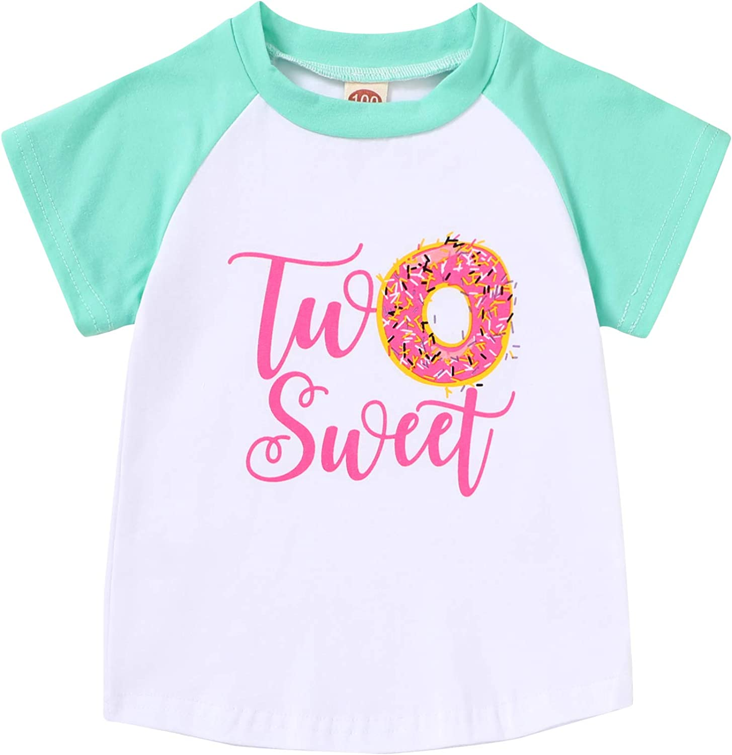 2nd Birthday T-Shirt Baby Girls Two Sweet Popular shop is the lowest price challenge Pink Omaha Mall Doughnut Tees Sum