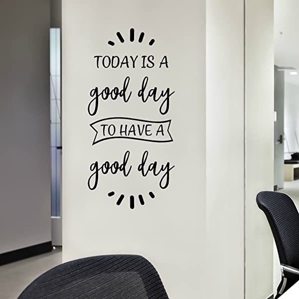 Today Is A Good Day Wall Art Positive Inspirational Quotes Decals And Sayings Stickers 12 X24 Black