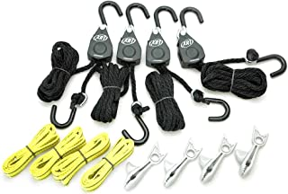 PROGRIP 921200 Cargo Tie Down and Transport Bundle: (4) XRT Rope Lock Tie Down, (4) Shark Clip with Screw for Tarp, (4) Tie Down Extension Loops
