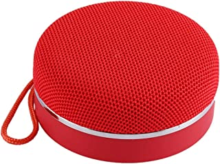 Portable Bluetooth Speaker with Hand Rope Built-in Microphone Support TF Card, USB Output, FM, Speakerphone,Red