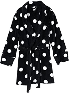 Victorias Secret PINK Limited cozy robe Black Polka Dots (x/s s)
