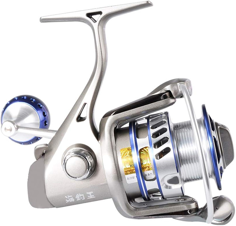 Lightweight Smooth Fishing Spinning Reels,5.1 1 5.0 1 Gear Ratio 6+1BB Freshwater Saltwater Fishing Reel MAX Drag 10Kg