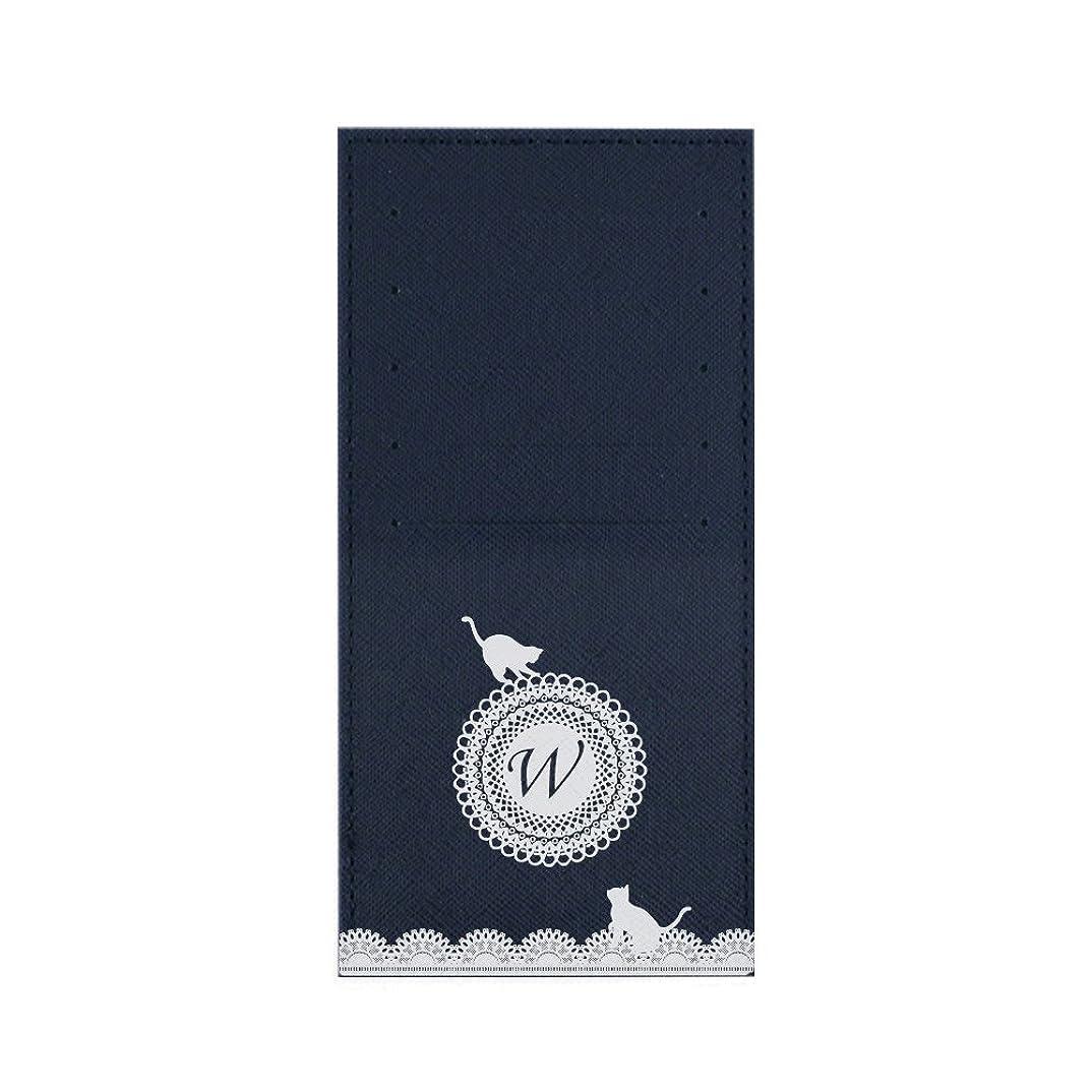 楽しませる黄ばむ財団インナーカードケース 長財布用カードケース 10枚収納可能 カード入れ 収納 プレゼント ギフト 3027レースネーム ( W ) ネイビー