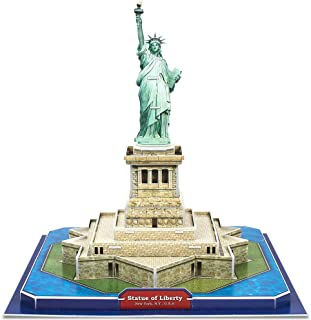 CubicFun 3D New York Puzzles Small Architecture Buildings Paper Craft Model Kits Toys for Adults and Teens, Statue of Liberty
