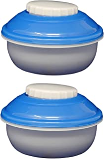 EZ Freeze Snack N Dip Storage Container (2 Pack) with Freezer Gel Lids