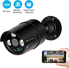Jennov HD 1080P POE IP Security Camera Outdoor Home Surveillance Video CCTV Camera with 3.6mm Lens IR-Cut Night Vision Free Remote View App Motion Detection IP66 Weatherproof(Black)