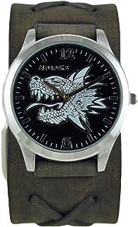 [ネメシス] Nemesis 腕時計 Men's 3D Dragon Head Series Analog Display Japanese Quartz Black Watch 日本製クォーツ 933FXBK メンズ 【並行輸入品】
