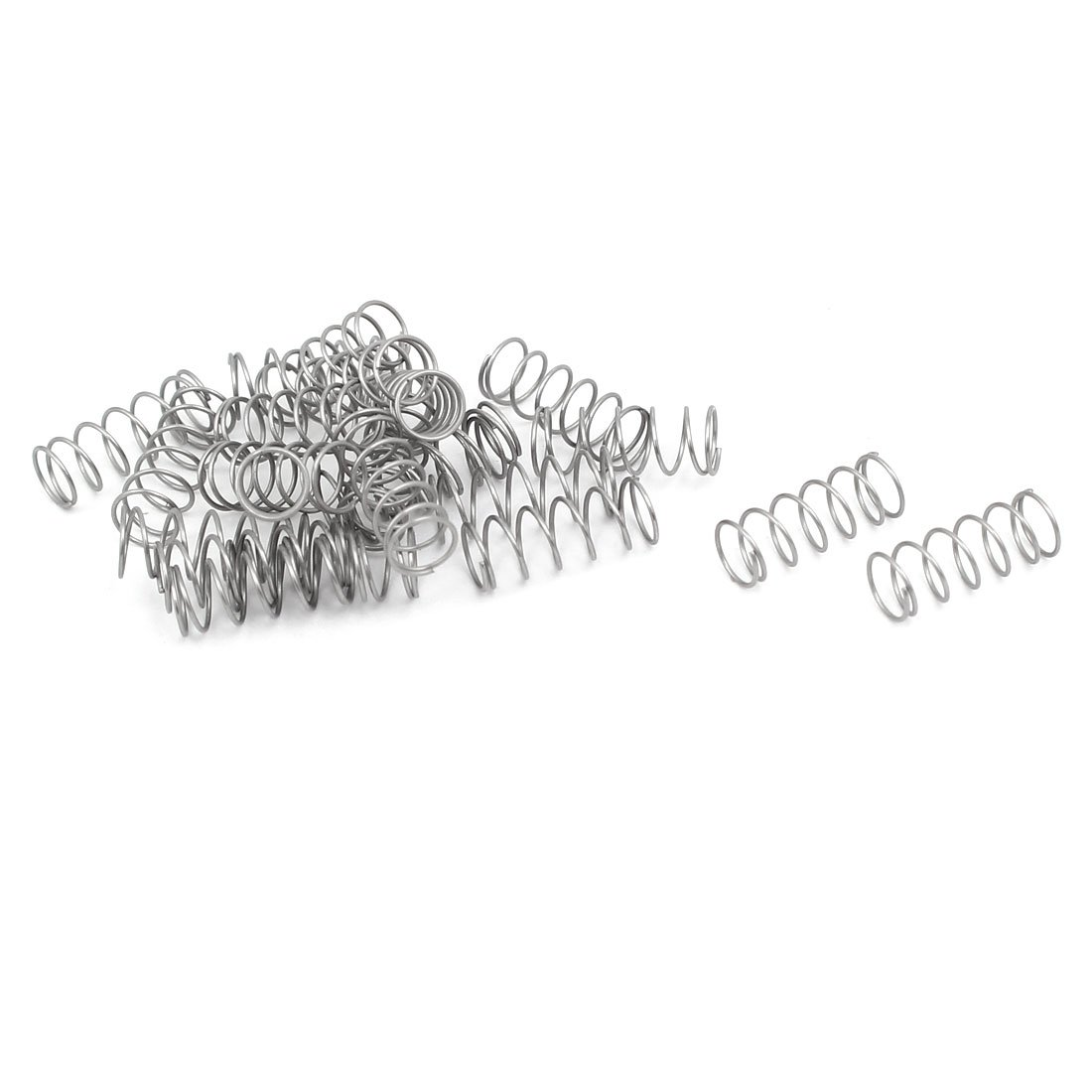 uxcell Compression Spring,304 Stainless Steel,4mm OD,0.3mm Wire