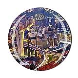 Bilbao España - Imán para nevera 3D de cristal con imán de cristal para viajes turísticos, colección de recuerdos, regalo magnético para decoración del hogar y la cocina