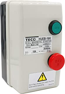 Baomain Magnetic Starter HUEB-16K On Off Switch Enclosed 3 Pole 110V Coil 12.5-18A