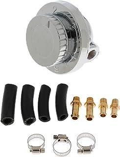 Dolity Car Adjustable 1-5 PSI Oil Fuel Pump Pressure Regulator 8mm 10mm Tail Hose Kits