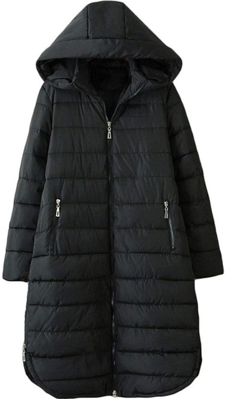 I'm good at you Women Autumn Winter Long Hooded Parka Coat Woman Cotton Padded Jacket Female Loose Coats B21