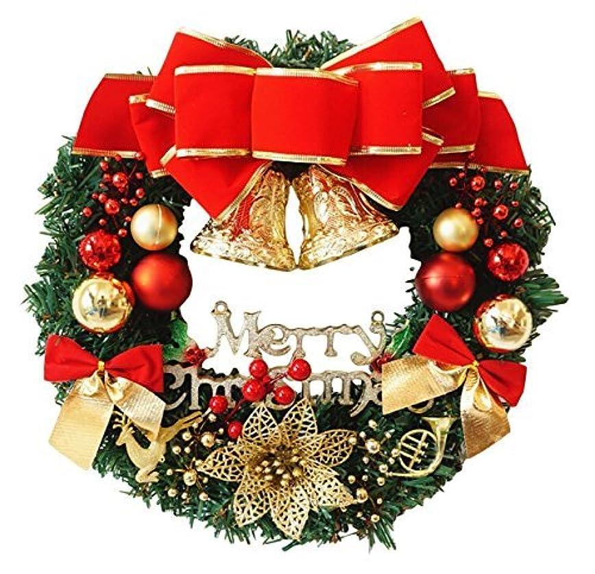 常にショップタイルELEEJE クリスマスリース 選べるサイズ 便利なドアフック 玄関 飾り 大きい リボン ベル サンタ (30cm)