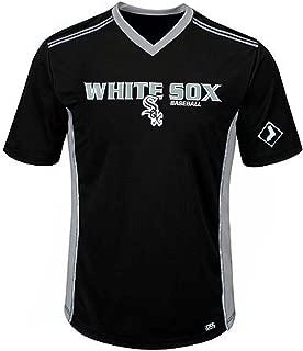 Chicago White Sox MLB Mens Cool Base Performance V Neck Jersey Black Big Sizes