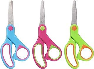 "Cuttte 5"" Kids Scissors, 3pcs Child Scissors, Small Blunt Tip Scissors for Kids, Kindergarten Beginner Scissors for Crafti..."