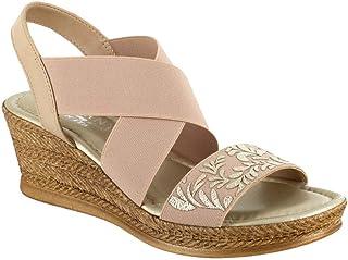 Easy Street Ysabelle Gold Sandal,7