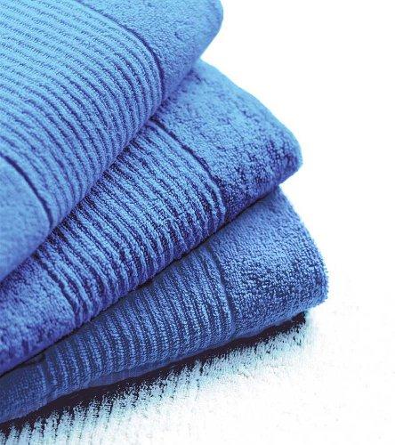 N&K Bielefelder Wäsche: Lot de 6 petites serviettes très absorbantes - 30 x 30 cm - Bleu uni