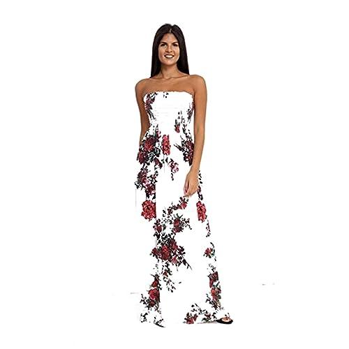 f89f2ee093c GirlzWalk Women Sheering Floral Print Long Maxi Dress Plus Size 8-24