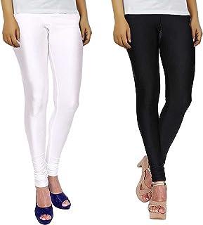 15c5fa2454dc Bhetvastu Leggings For Women Black and White Combo Shining Lycra (Size XL)  Shiny Leggings