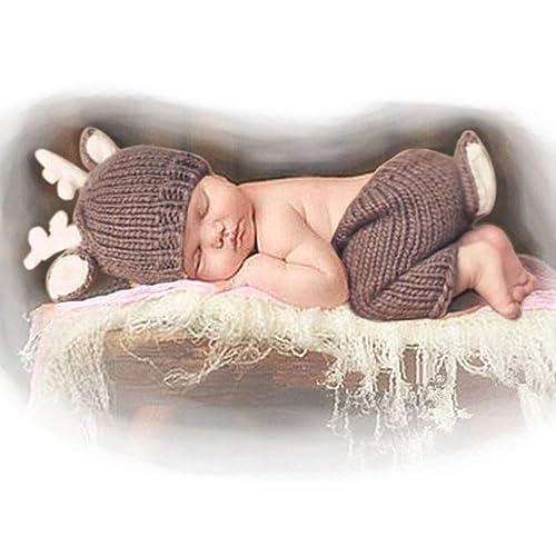 cfc690e1b Besutana Newborn Baby Photography Props Outfits Lovely Boy Hat Pant Girl
