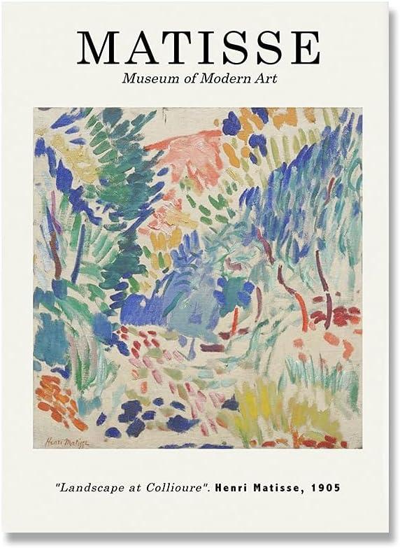 Henry Matisse carteles e impresiones retro paisaje abstracto arte de la pared retro decoración del hogar lienzo sin marco pintura A3 60x80cm