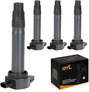 QYL Pack of 4Pcs Ignition Coils Replacement for Dodge Avenger Caliber Journey/Jeep Compass Patriot #UF557 5C1644 4606824AB CUF557