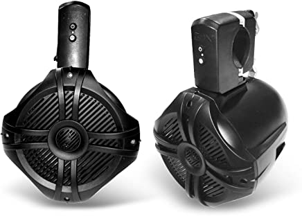 $239 Get SDX Pro Audio - 6.5 inch 350W Fully Wireless Bluetooth Marine Speaker System (Pair) - Wakeboard Tower/Waketower and Fits Rollbar/Rollcage - Rechargeable, No Wiring/Cables Needed - No Receiver Needed