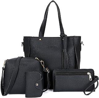 COAFIT Women's Tote Bag with Satchel Bag Clutch Bag & Card Holder