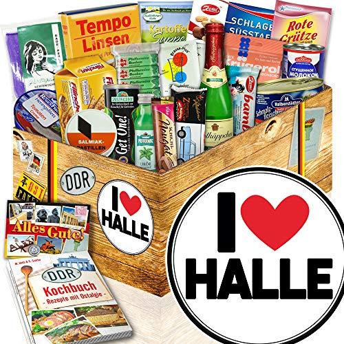 I love Halle / Geschenk Halle für Mann / DDR Spezialitäten Box