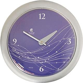 "Chicago Lighthouse 14"" Vines & Dots Decorative Wall Clock, Purple/Silver, Quiet"
