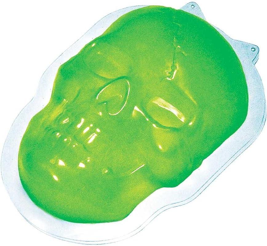 Fun World Unisex Adult S Skull Halloween Gelatin Mold Green Standard