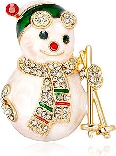 Fablcrew Forma di Pupazzo di Neve di Natale Pin Spilla per Gioielli da Sposa Xmas Décor Regali per Adulti Size 3.9 * 3.1cm